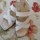 Ros Hommerson 9 M Off White Sandals Shoes Genuine Leather Straps Wedges Used EUC