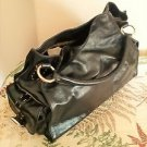 Hype Handbag Black Purse Genuine Leather Excellent Preowned Lots of Pockets