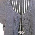 Jones New York Size S Vest Cap Sleeves Sweater Black Open Front Excellent Used