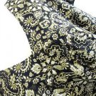 Emma James Dress 22W Black Green Beige Floral Print Cap Sleeves New NWOT