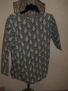 Black Beige Floral Blouse 8 Semi Sheer Sparkly Sequins Evening Holiday Top New