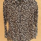 Lauren Ralph Lauren S Shirt Long Sleeves Black White Floral Gently Used Twice