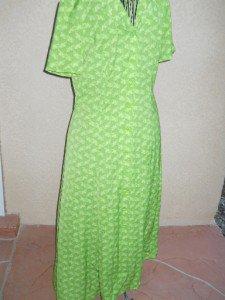 Leslie Fay Green Dress Size 10 Misses Floral Feminine Short Sleeves New NWOT