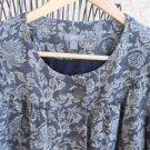 J Jill Petite SP Gray Beige Floral Jacket Lined 3/4 Sleeves Tencel Linen New
