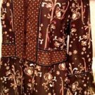 Emma James Woman Size 18W Brown Beige Floral Top Blouse EUC