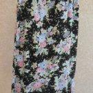 Sag Harbor Skirt Size 10 Floral Rufled Black Beige Pink Mint Flowers Long Used