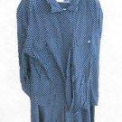 Dress 18W Jones New York Skirt Set Navy Brown Polka Dots Outfit EUC Condition