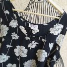 R & K Foral Dress Size 22W Tank Style Black Cream Polyester Excellent Used Condi