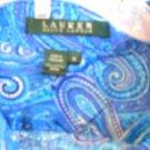 Lauren Ralph Lauren M Shirt Large Cotton Blue Purple Paisley Excellent Used