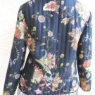 Silkland Size PP Petite Silk Lined Jacket Blazer  Floral Long SleevesNew NWOT
