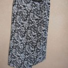 Talbots Size 16 Skirt Floral Faux Wrap Black White Hibiscus Flower Long New NWOT