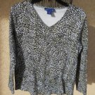 Karen Scott Top M Teeshirt Medium Blouse Animal Print Stretchy Used Excellent