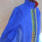 Dorothy Schoelen Jacket Medium M Blue Breeze Long Sleeves Designer Zipper New