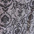 North Style Skirt Size 8 Floral Grey Black Raised Velvet Flower Below Knee Long
