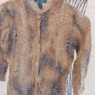 Ralph Lauren M Cardigan Sweater Button Front  Long Sleeves Animal Print Used EUC