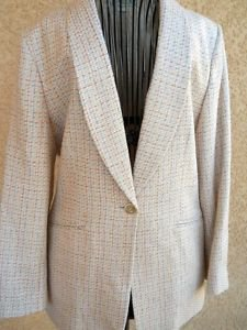 Austin Reed Blazer 10 Silk Tweed Career Coat Multi Colors Lined Wnter New NWOT