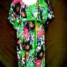 Mlle Gabrielle Dress XL Pink Green Purple Chiffon Kimono Sleeves NWOT Misses