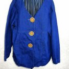 Dorothy Schoelen Jean Jacket XL Women Dark Blue Denim Career Excellent Pre-owned