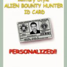 "AREA-51 Novelty Personalized ""Alien Retrieval"" Military ""Green""  ID Card"