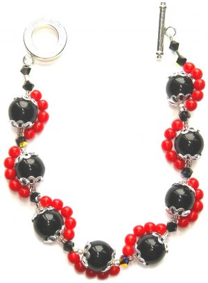 Red Zigzag Bracelet
