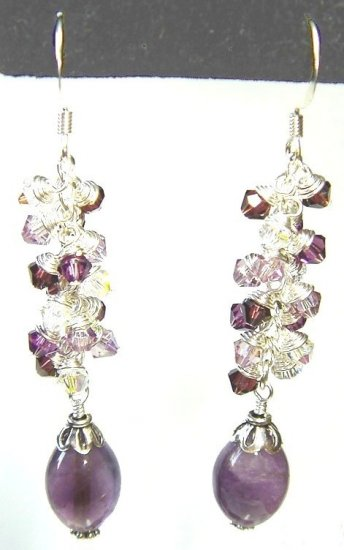 Dangling Amethyst and Crystals