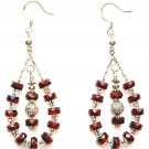Glass Beaded Teardop Earrings