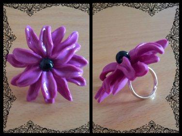 Unique Chrysanthemum Ring adjustable