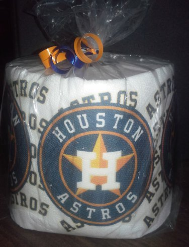 Houston Astros Heat Pressed Toilet Paper