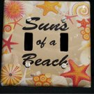 Suns of a Beach Double Light Switch Cover