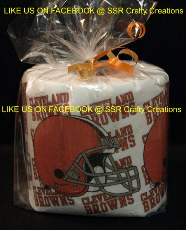 Cleveland Browns Heat Pressed Toilet Paper