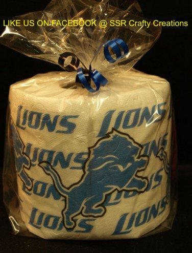 Detroit Lions Heat Pressed Toilet Paper