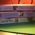 Christine Wells lot of 3 books