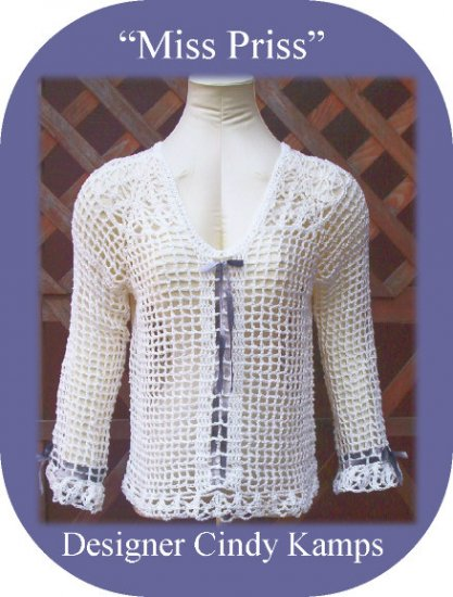 MISS PRISS Long Sleeved Crochet Top Pattern
