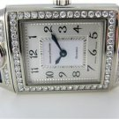 JAEGER LECOULTRE REVERSO 18K GOLD WATCH VINTAGE DIAMOND ENGRAVED WITH LOVE ART