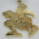 14KT SOLID YELLOW GOLD UNIVERSITY MIAMI PENDANT LOGO ART SPORT CHARM COLLEGE FL