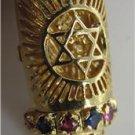 14KT YELLOW GOLD MEZUZAH PENDANT STAR DAVID TORAH SACRED PROTECTION RELIGIOUS