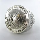 HEAVY 14KT WHITE GOLD SPECIAL SERVICES WORLDWIDE FORCE PROTECTION DIAMOND RING