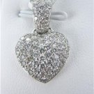 18KT WHITE GOLD 79 DIAMOND HEART PENDANT FOR VALENTINES DAY LUXURY JEWELRY