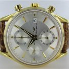 GENTS 18KT YELLOW GOLD PHILIP AUTOMATIC CHRONOGRAPH DATE WATCH WITH OPEN BACK