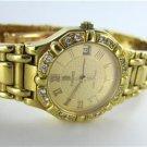 LADIES CONCORD 18KT YELLOW GOLD 16 DIAMOND WATCH SARATOGA FINE WOMAN JEWELRY