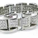 HEAVY 14K WHITE GOLD APRX. 11 CARATS TOTAL - CONTAINING 201 DIAMONDS BRACELET