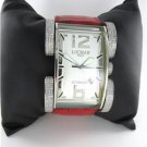 LOCMAN ITALY LATIN LOVER DIAMOND WATCH RED LEATHER STEEL CASE WITH BOX + PAPERS