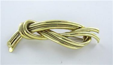 TIFFANY & CO. 18K GOLD PIN BROOCH KNOT MADE IN ITALY 19.5oz VINTAGE COLLECTORS
