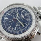BREITLING BENTLEY A25362 CHRONOGRAPH STAINLESS STEEL LARGE BLUE DIAL MENS WATCH