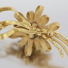 14K YELLOW GOLD DIAMOND BROOCH PIN LOOPED BOW RJ SIGNATURE ANTIQUE VINTAGE