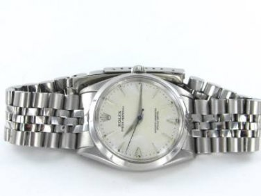 ROLEX WATCH OYSTER PERPETUAL STAINLESS STEEL YEAR 1956 VINTAGE MODEL 1002 WRIST