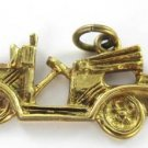 18KT YELLOW SOLID GOLD PENDANT CHARM AUTOMOBILE CAR ANTIQUE 1.0DWT ISRAEL SIGN