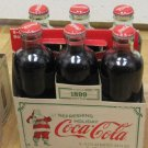 CIRCA 1899 COCA COLA SANTA SIX PACK COLLECTIBLE COKE SANTA FULL SODA DRINK 2008