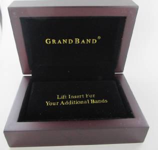 THE GRAND BAND MONEY CLIP GB1800 BLACK ANODIZED ALUMINUM EXTRA BANS MEN ITEM