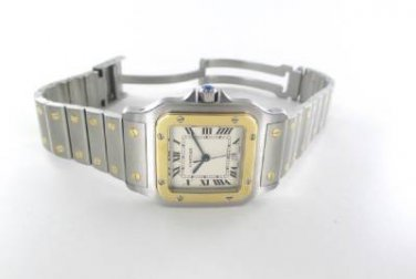 CARTIER SANTOS GALBEE 187901 QUARTZ WATCH STEEL GOLD SWISS MADE DATE WRIST WATCH